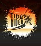 Marée Rider Design Concept pour surfer d'été Images stock