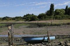 Marés baixas em mais baixo Halstow em Kent foto de stock