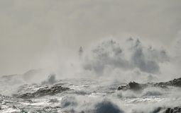 Mar áspero, costa de Gran canaria, Ilhas Canárias Fotos de Stock