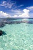 Mar abierto bajo fotografía de archivo