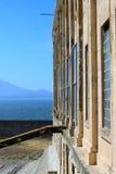 Mar abierto de la pared de la prisión Fotografía de archivo