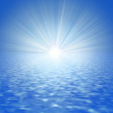 Mar abstracto y el Sun Imágenes de archivo libres de regalías