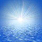 Mar abstrato e o Sun imagens de stock royalty free