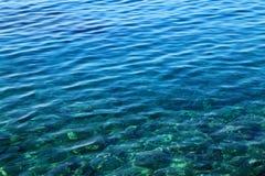 Mar adriático claro hermoso, Croacia Foto de archivo libre de regalías