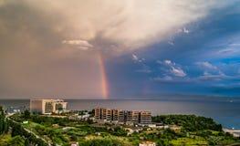 Mar adriático del cloudscape del arco iris Foto de archivo