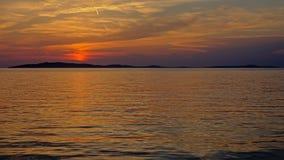 Mar adriático después de la puesta del sol Foto de archivo libre de regalías