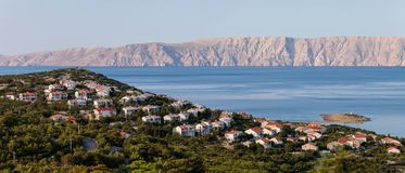 Mar adriático e isla de Krk Fotos de archivo libres de regalías