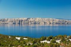 Mar adriático e isla de Krk, Croacia Fotografía de archivo