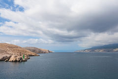 Mar adriático en Croatia Fotos de archivo