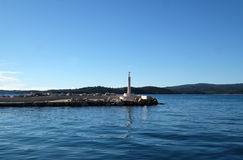 Mar adriático en Croatia Imagenes de archivo