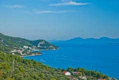 Mar adriático en Dalmacia Foto de archivo libre de regalías