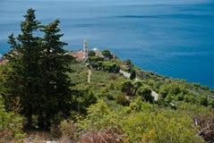 Mar adriático en Dalmacia Fotos de archivo