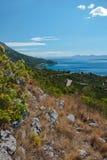 Mar adriático en Dalmacia Fotografía de archivo