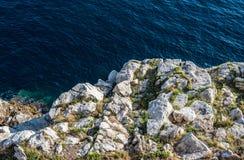 Mar adriático en Dubrovnik Fotografía de archivo