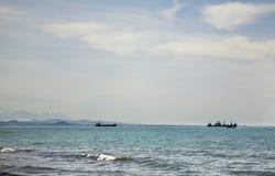 Mar adriático en Durres albania Foto de archivo libre de regalías