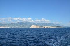 Mar adriático hermoso en el verano de 2015 fotos de archivo libres de regalías