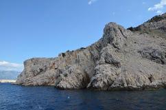 Mar adriático hermoso en el verano de 2015 fotografía de archivo libre de regalías