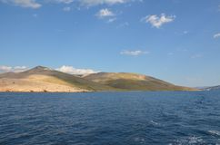 Mar adriático hermoso en el verano de 2015 fotos de archivo
