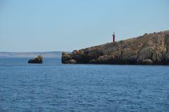 Mar adriático hermoso en el verano de 2015 fotografía de archivo