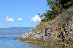 Mar adriático, isla de Krk, Croacia Fotos de archivo libres de regalías