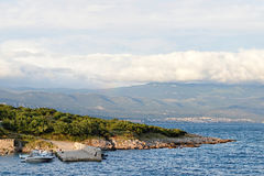 Mar adriático, isla de Krk, Croacia Fotografía de archivo libre de regalías