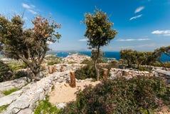 Mar adriático, isla de Losinj, Croacia Imagen de archivo libre de regalías