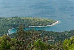 Mar adriático, isla de Losinj, Croacia Fotografía de archivo libre de regalías