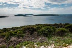 Mar adriático, isla de Losinj, Croacia Imagen de archivo