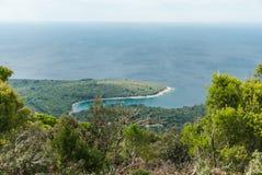 Mar adriático, isla de Losinj, Croacia Fotografía de archivo