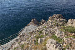 Mar adriático azul, Croacia Imagen de archivo
