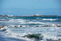 Mar agitado fotografía de archivo libre de regalías