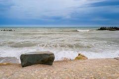 Mar agitado após a tempestade imagens de stock royalty free