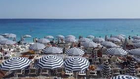 Mar agradável da praia da cidade Foto de Stock