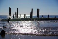 Mar & onda de brilho portuários de Willunga Foto de Stock