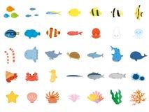 Mar animals4 stock de ilustración
