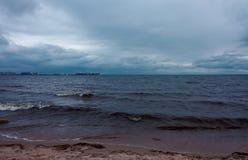Mar antes da tempestade Imagem de Stock