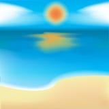 mar, areia e sol Fotografia de Stock Royalty Free
