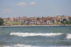 Mar, areia, onda, ano 2014 imagens de stock royalty free