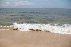Mar, arena, onda, año 2014 fotos de archivo