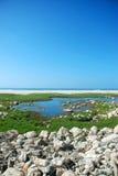 Mar atrás do mar Fotografia de Stock Royalty Free