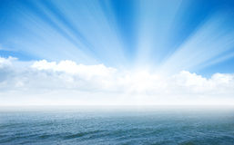 Mar azul Imagem de Stock Royalty Free