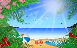 Mar azul bonito Imagens de Stock