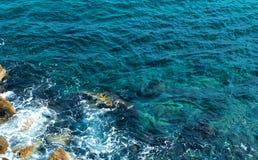 Mar azul de la marina de guerra Foto de archivo