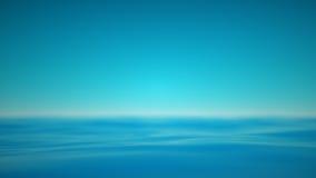 Mar azul nebuloso con realxing ondas tranquilas Fotografía de archivo libre de regalías