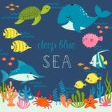 Mar azul profundo bonito Foto de Stock Royalty Free