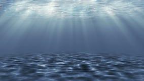 Mar azul profundo de la introducción, 3D ilustración del vector