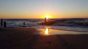 Mar Báltico de la puesta del sol Fotografía de archivo