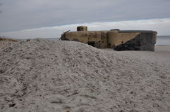 Mar Báltico de los fortalecimientos de la playa imagen de archivo