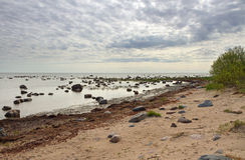 Mar Báltico de pedra Imagem de Stock