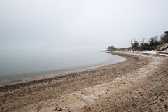 Mar Báltico e manhã nevoenta Fotos de Stock Royalty Free